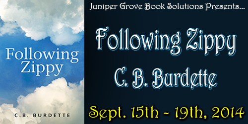 Following Zippy by C.B. Burdette Book Tour, Interview, and Giveaway